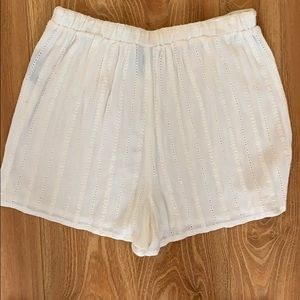 Urban Outfitters Shorts - Cream embroidered shorts